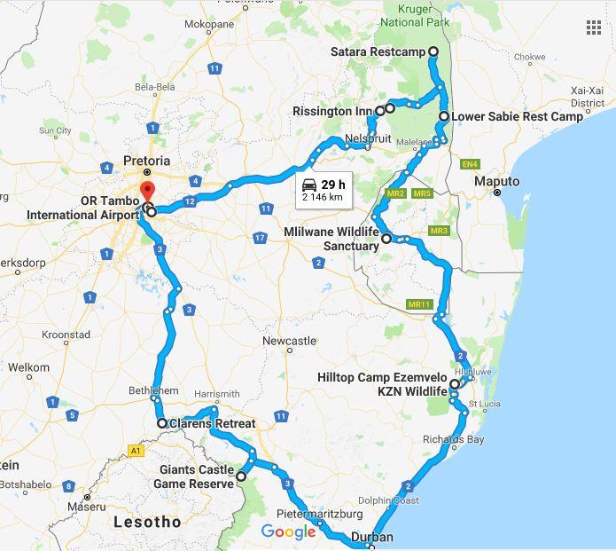 Hyundai New Castle De: 14 Daagse Autoreis Door Krugerpark, Eswatini, Hluhluwe En